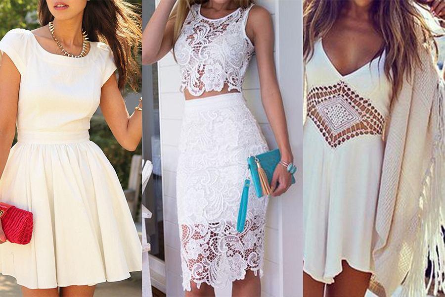 Jakie dodatki do białej sukienki - modne i oryginalne propozycje