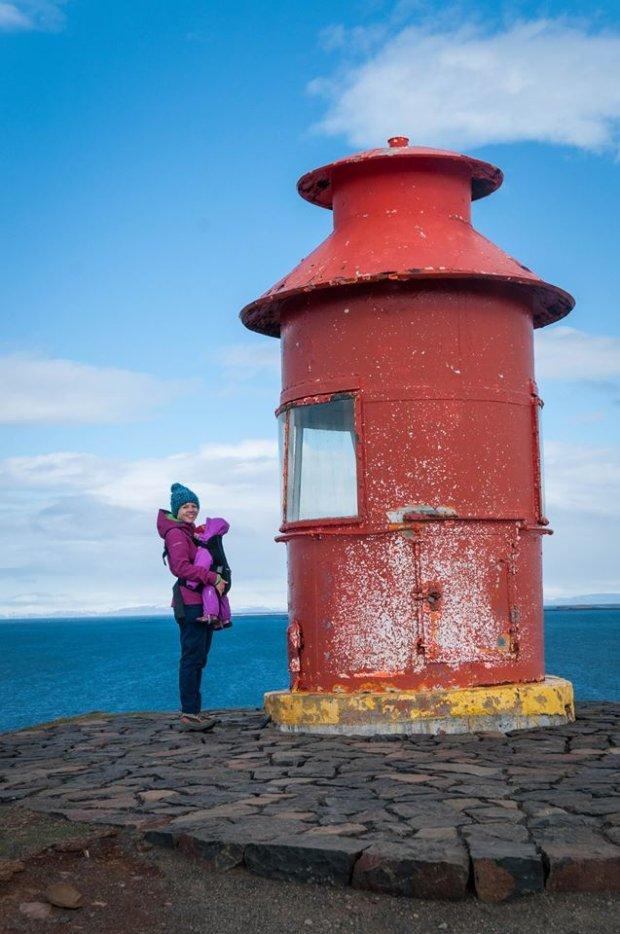Karolina i Mania w miejscowości Stykkishólmur w Islandii.