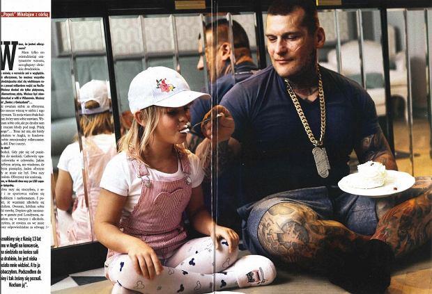 'VIVA!', Popek w sesji z córką
