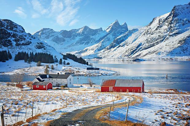 Norweskie Lofoty w zimowej odsłonie