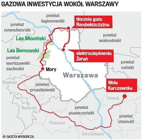 Gazowa inwestycja wokół Warszawy