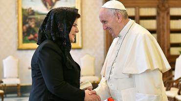 Premier Beata Szydło podczas audiencji u papieża Franciszka
