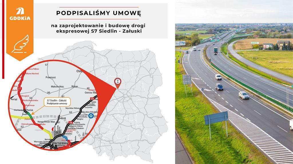 S7 Siedlin - Załuski