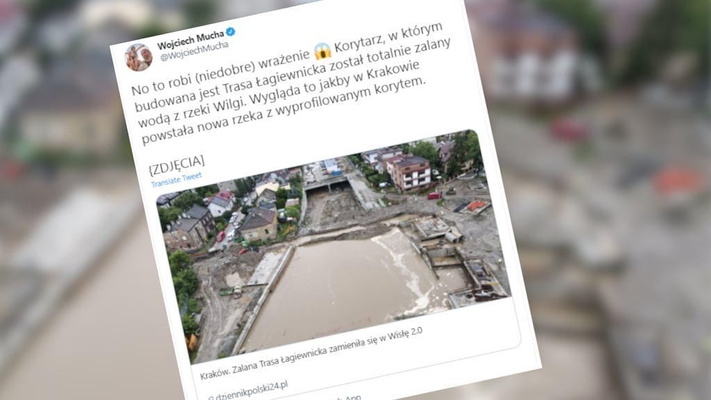 Trasa Łagiewnicka zalana
