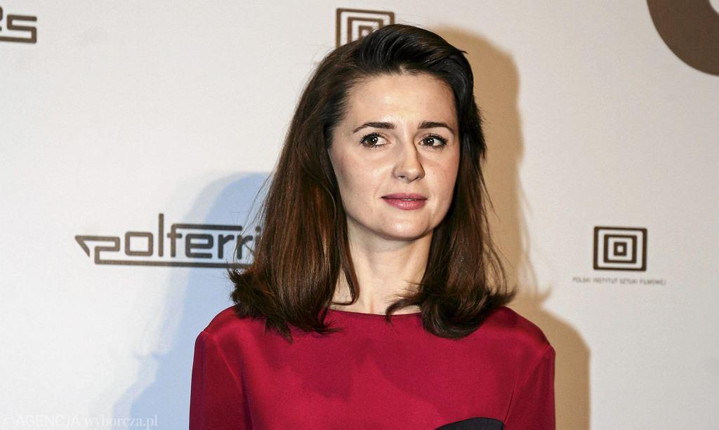 Agnieszka Grochowska na premierze filmu ''Obce Niebo''