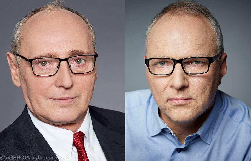 Przewodniczący rady nadzorczej Agory SA dr hab. Andrzej Szlęzak i I zastępca redaktora naczelnego 'Wyborczej', Jarosław Kurski