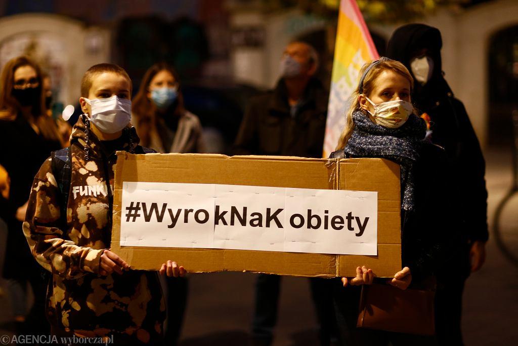 Protest przeciwko zaostrzani prawa aborcyjnego w Polsce
