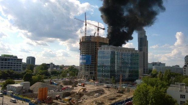 Płonie Warsaw Spire