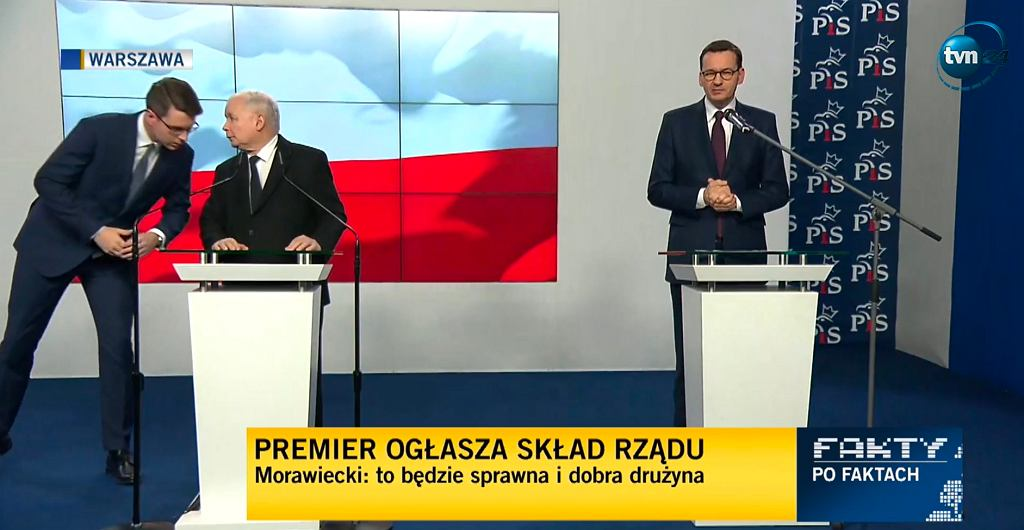Konferencja prasowa premiera Mateusza Morawieckiego i prezesa PiS Jarosława Kaczyńskiego
