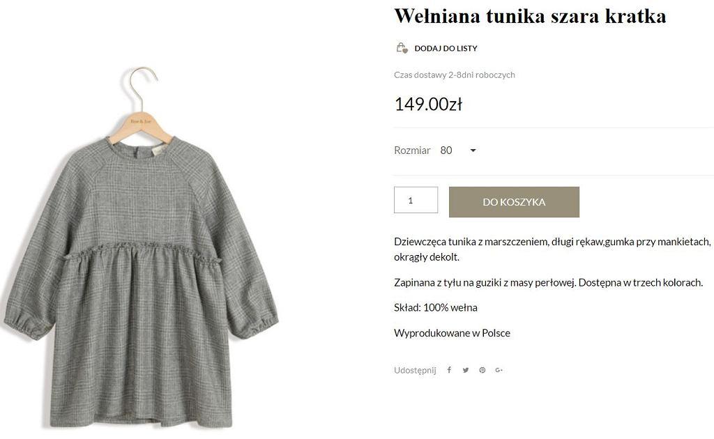 Sukienka  Roe&Joe, którą nosi córka Kasi Tusk