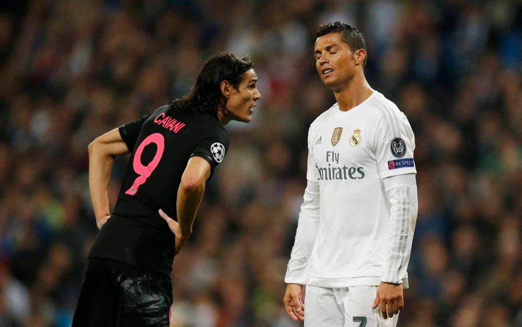 Edison Cavani i Cristiano Ronaldo