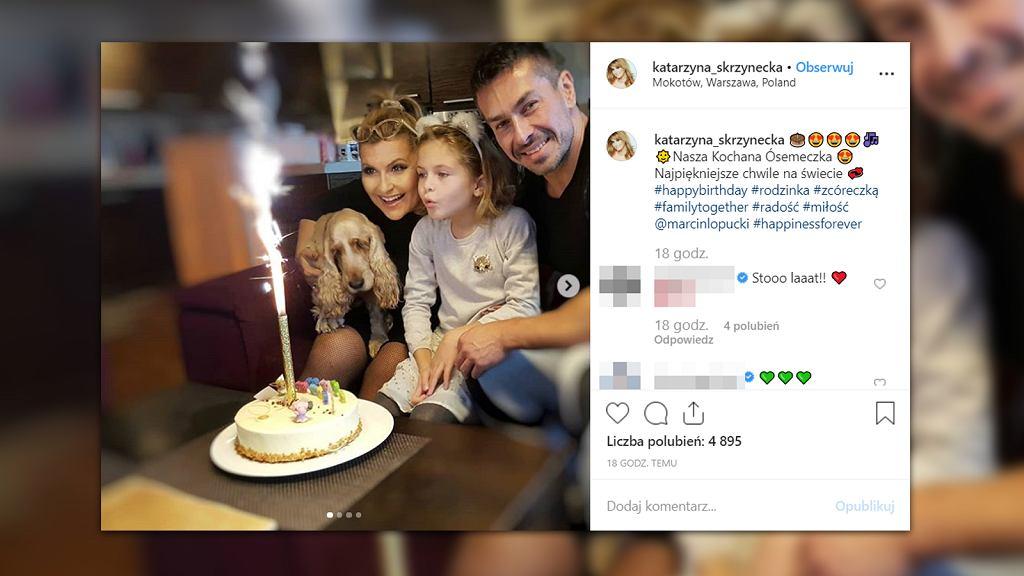 Katarzyna Skrzynecka świętuje ósme urodziny córki