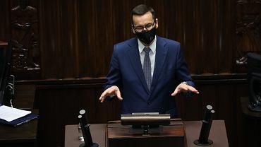 Morawiecki wypowie się w Sejmie ws. weta unijnego budżetu