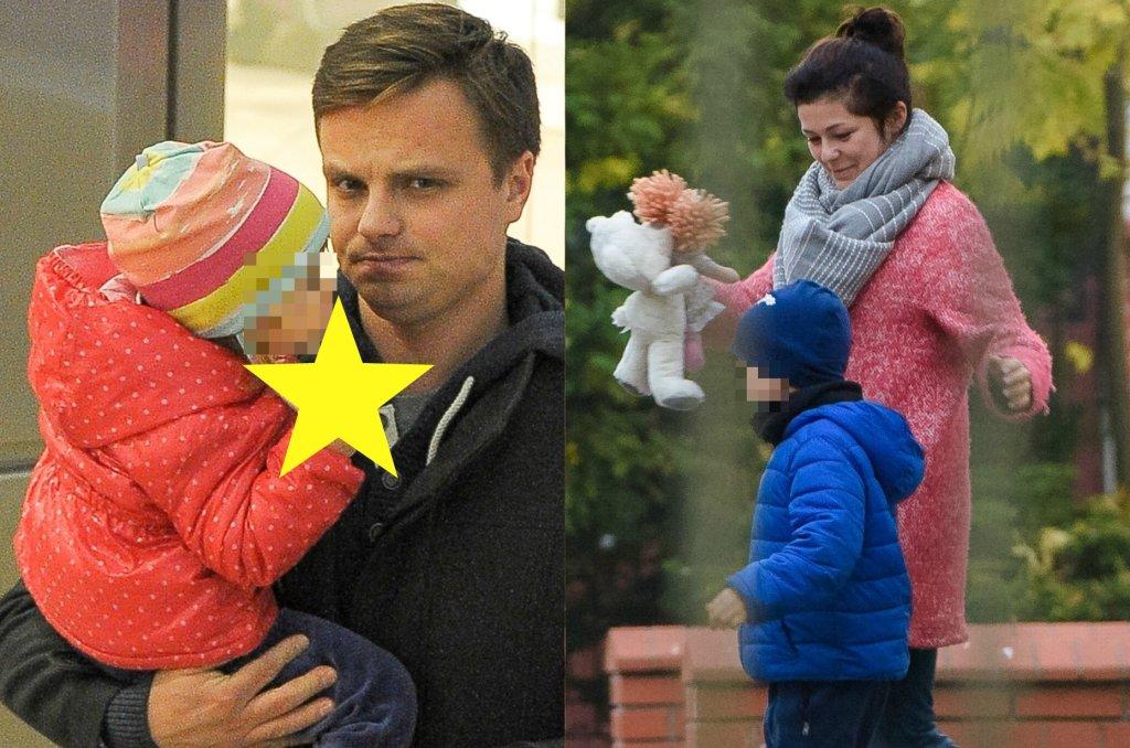 Katarzyna Cichopek i Marcin Hakiel razem z dwójką dzieci wybrali się na jesienny spacer po parku. Syn pary, Adam ma już 6 lat, a córka Helena niedługo będzie obchodzić 2 urodziny. Przy okazji paparazzi udało się
