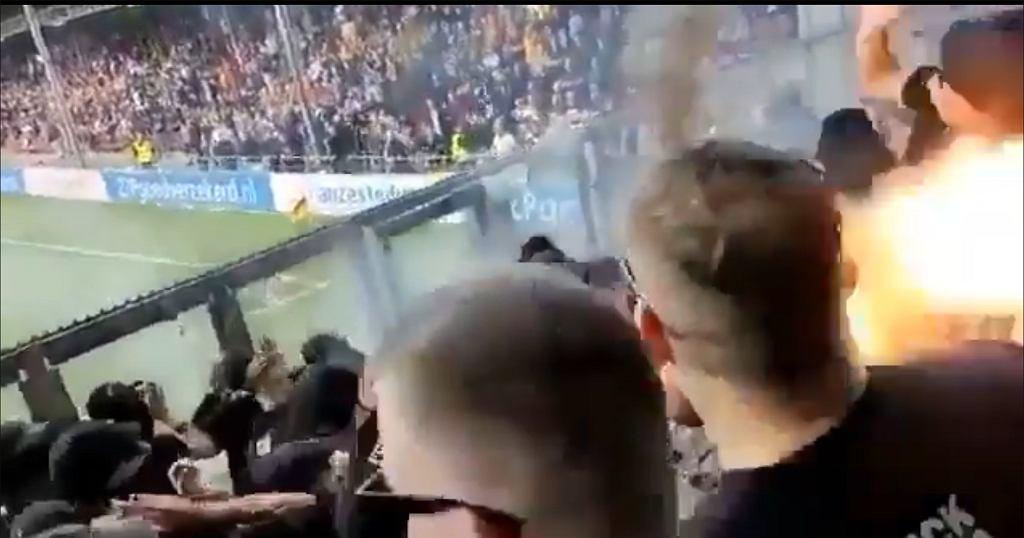 Niebezpieczna sytuacja na trybunach w Holandii