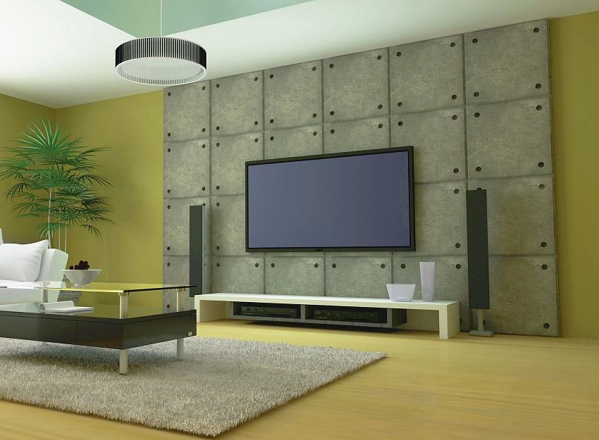 <B>Beton.</B> Surowy beton, do niedawna spotykany tylko w loftach, teraz stał się atrakcyjnym materiałem wykończeniowym również w mieszkaniach. Pojawia się nie tylko na ścianach, stropach, słupach konstrukcyjnych, ale też np. na obudowach kominków. Sprawdza się zarówno we wnętrzach przestronnych, jak i w mniejszych, zaaranżowanych w stylu industrialnym.