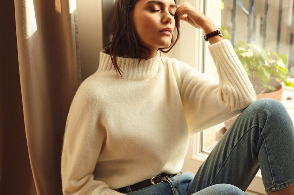 pluszowy sweter
