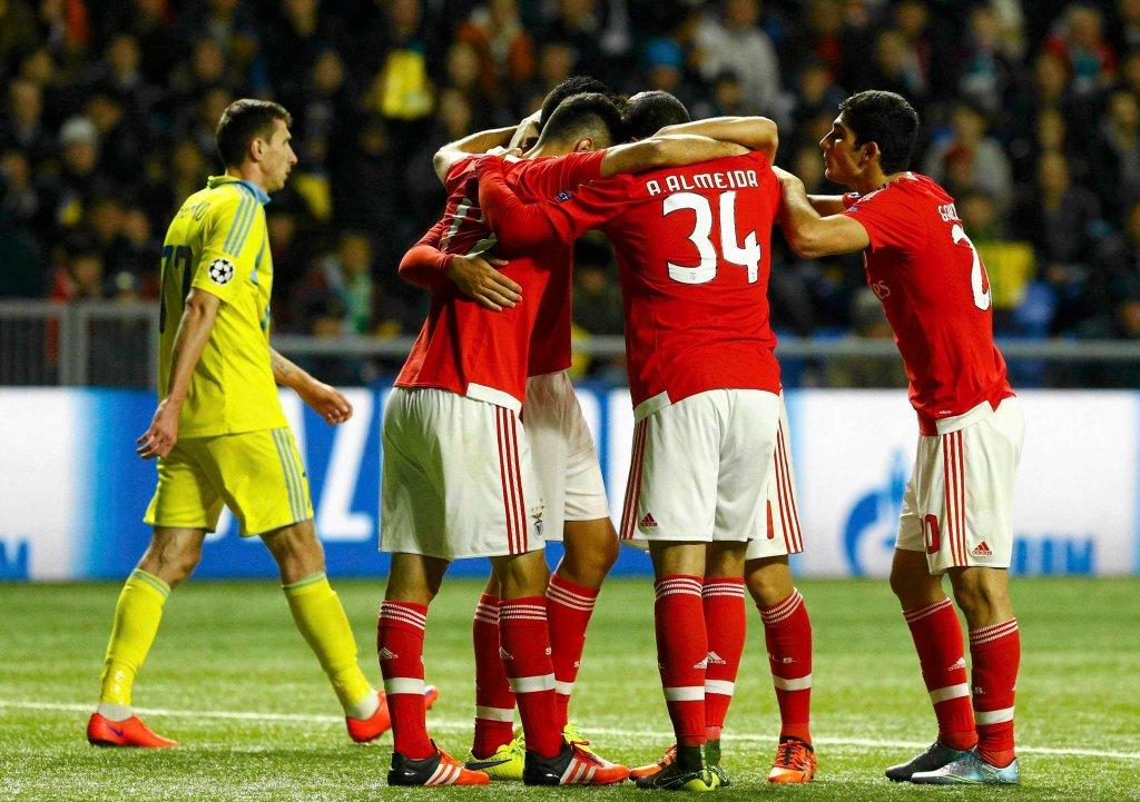 Mecz Benfiki Lizbona z Astaną w Lidze Mistrzów