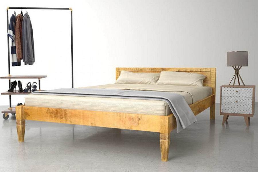 Łóżko VidaXL z litego drewna mango