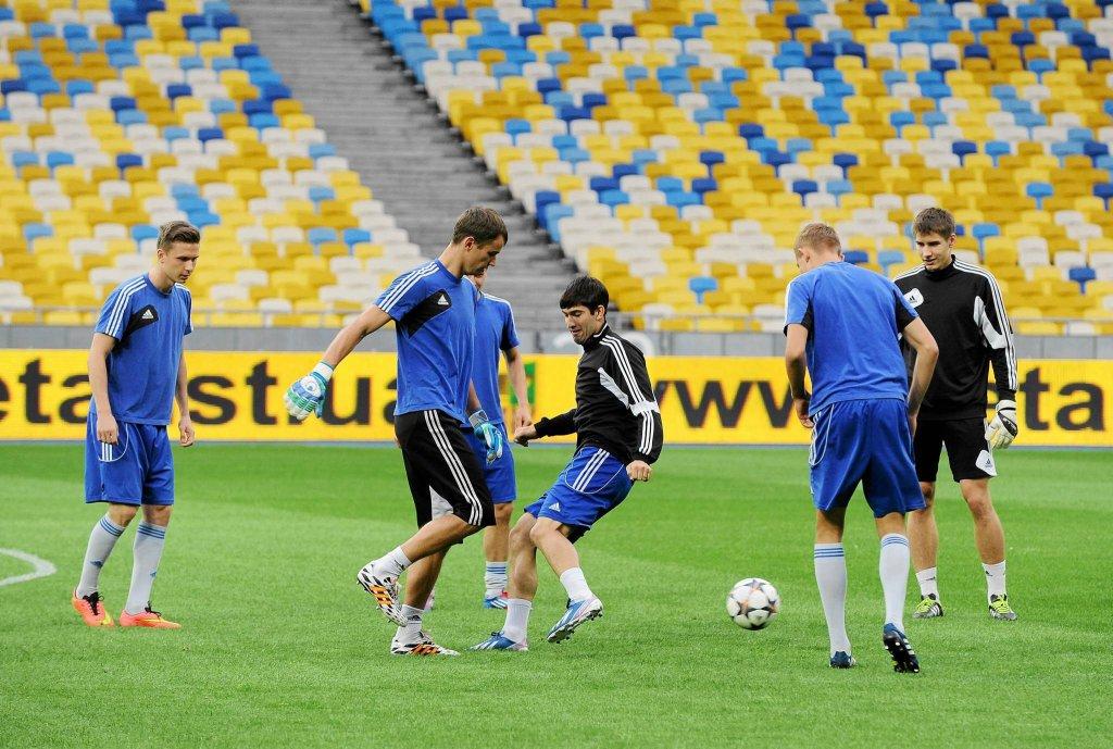 Trening piłkarzy Ruchu w Kijowie