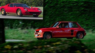 Renault 5 Turbo i Lamborghini Miura - dwa dzieła Marcello Gandiniego