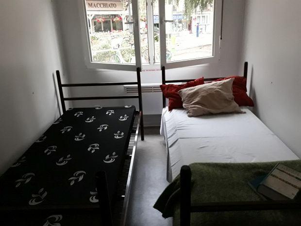 Kontener, w którym aktywistka zamieszkała na kilka dni