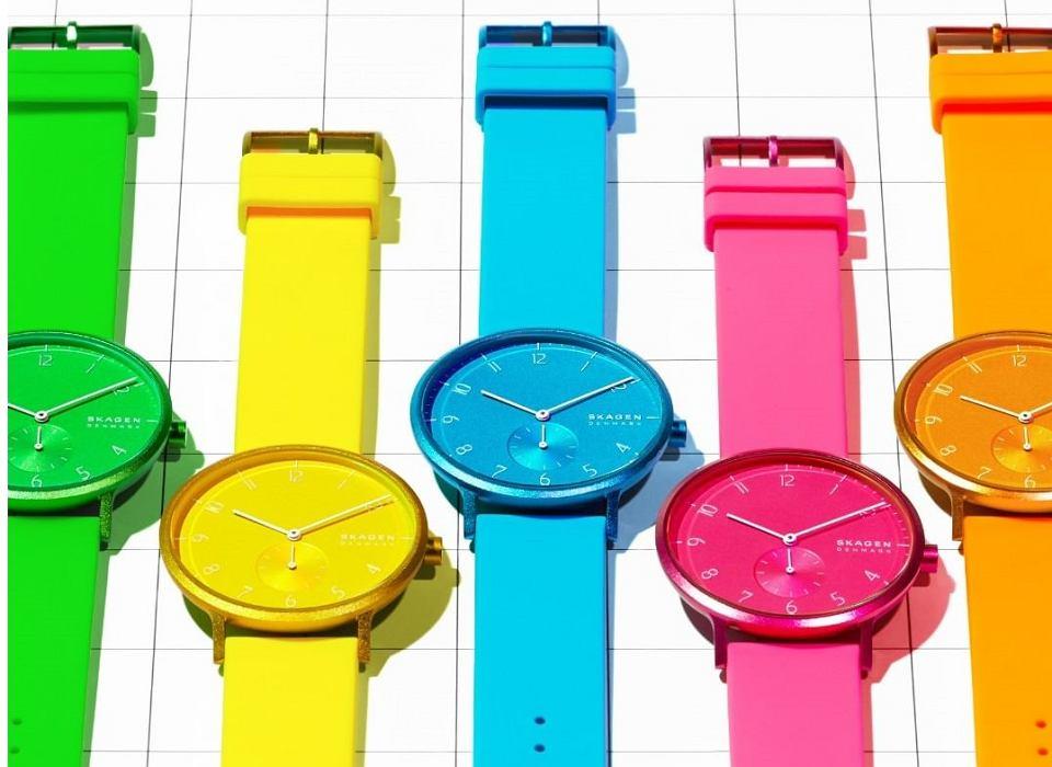 Kolorowe zegarki marki Skagen