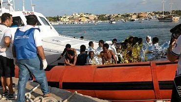 Akcja ratownicza na Lampedusie