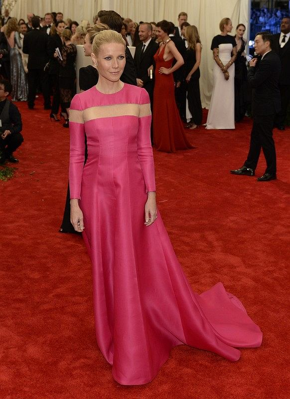 Actress Gwyneth Paltrow arrives at the Metropolitan Museum of Art's Costume Institute Gala benefit in honor of the museum's latest exhibit,