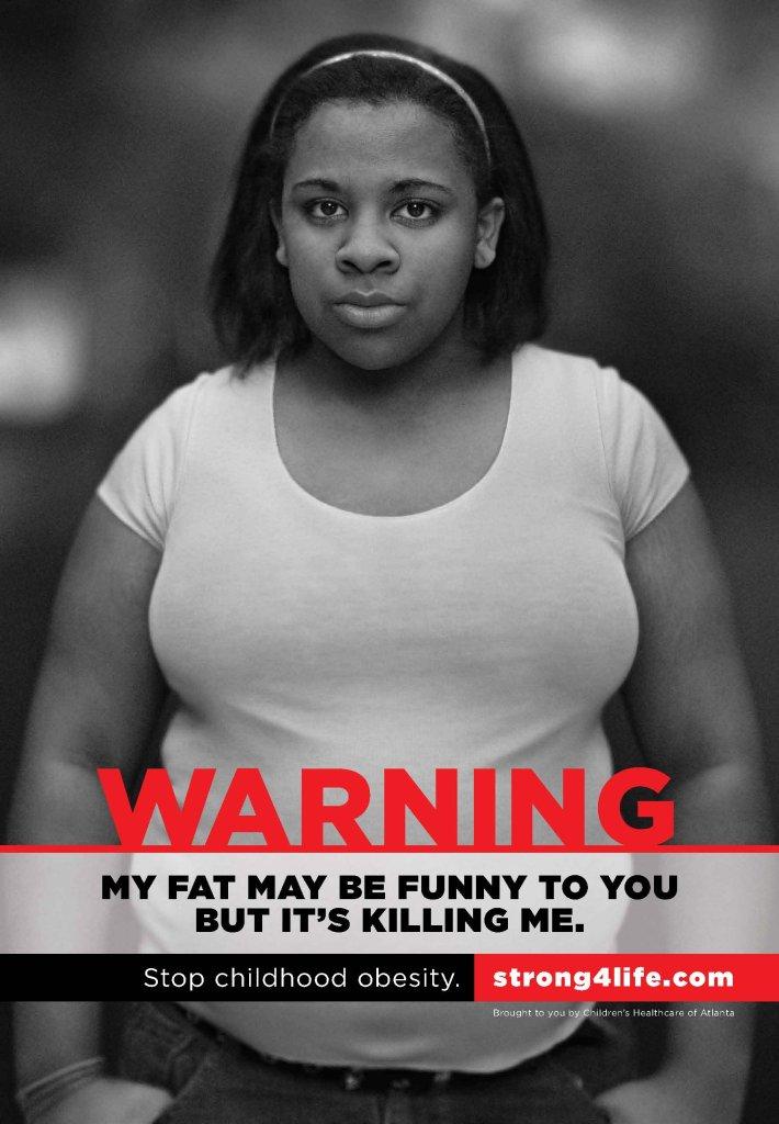 Plakat kampanii stowarzyszenia Strong4life, walczącego m.in. z otyłością dzieci