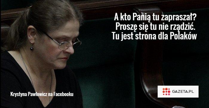 Krystyna Pawłowicz na Facebooku