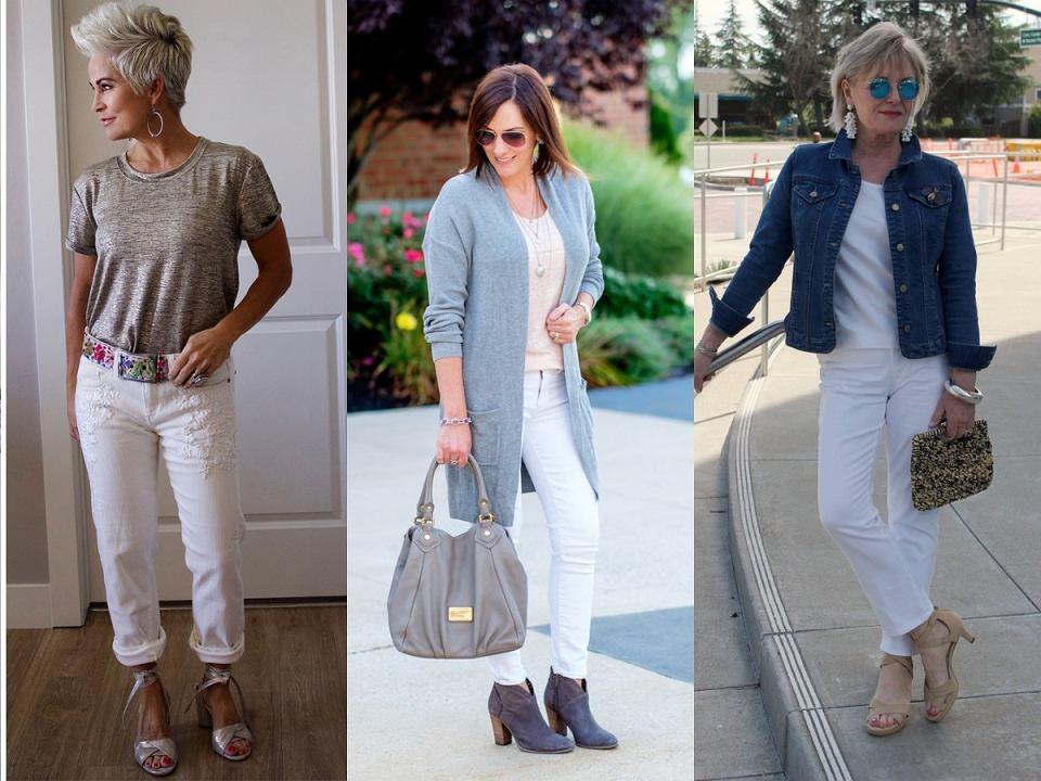 Jasne jeansy dla dojrzałych kobiet