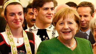 Angela Merkel podczas spotkania z przedstawicielami mniejszości niemieckiej w Rumunii, przy okazji szczytu UE w Sibiu, 9 maja 2019 r.