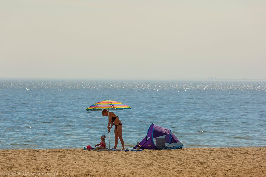 Lato. Sopot, Plaża, maj 2014