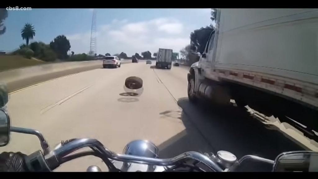 Wypadek motocyklisty w San Diego