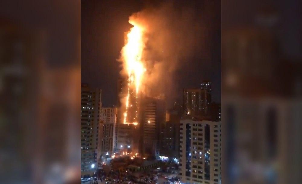 Pożar wieżowca w Zjednoczonych Emiratach Arabskich