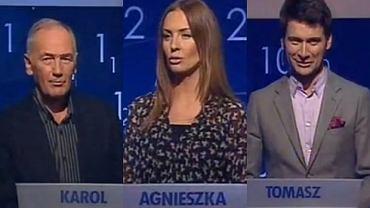 Karol Strasburger, Agnieszka Szulim, Tomasz Kammel.