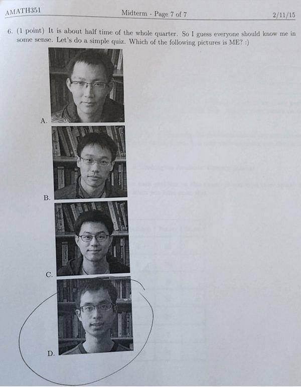 Jedno z egzaminacyjnych pytań