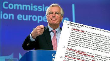 Michel Barnier, unijny negocjator ds. Brexitu, przedstawia mandat do negocjacji