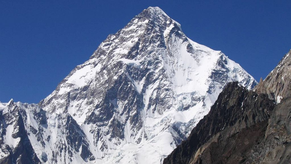 K2 (8611 m n.p.m.), najwyższy szczyt Karakorum, drugi co do wysokości szczyt Ziemi