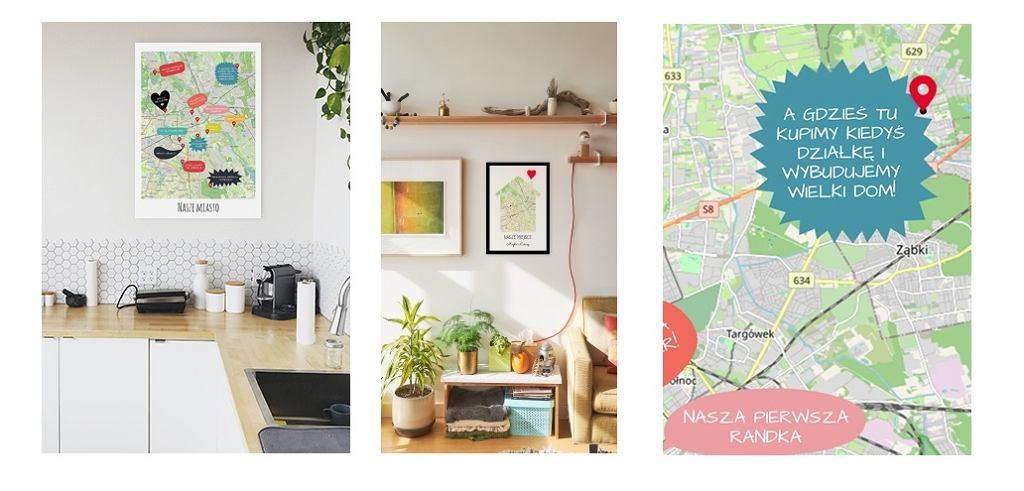 Plakaty z planem miasta