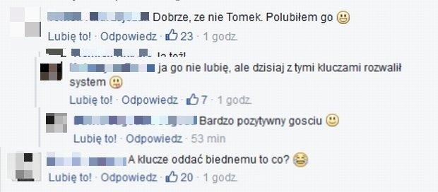 Komentarze na Facebook.com/Agent - Gwiazdy TVN