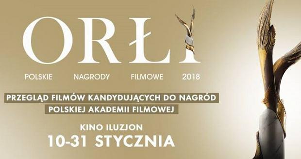 Plakat promujący Przegląd Filmów kandydujących do Nagród Polskiej Akademii Filmowej 2018