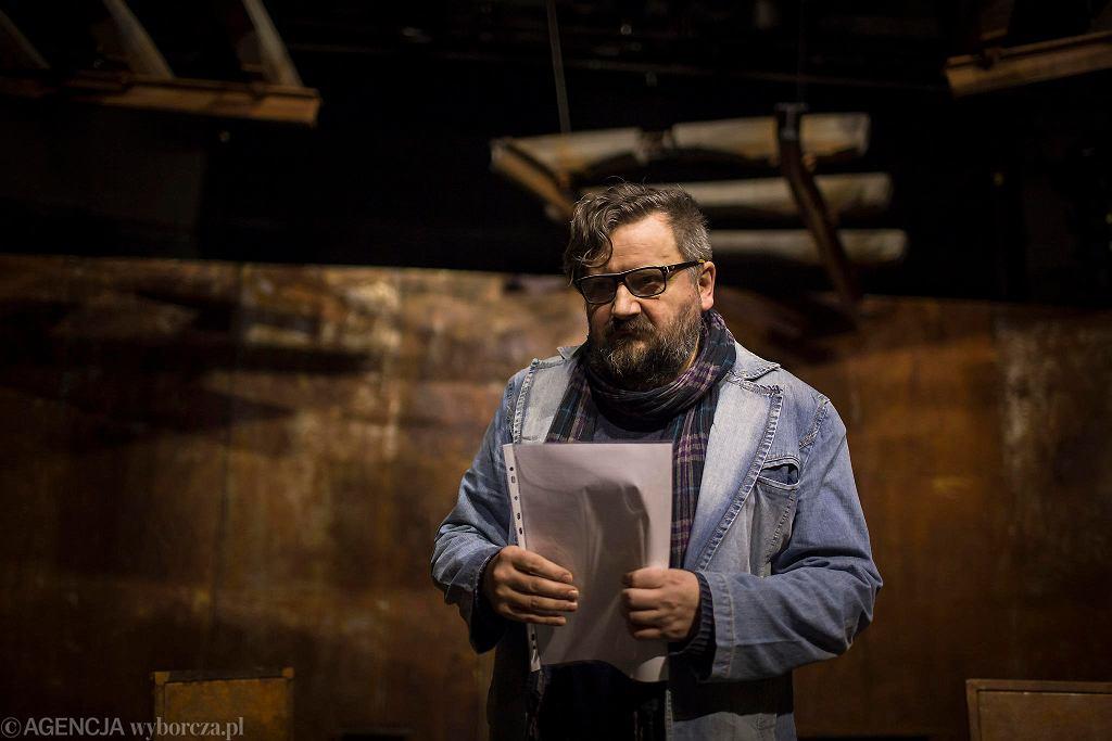 Waldemar Zawodziński na próbie spektaklu 'Z miłości' w Teatrze Jaracza