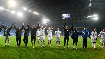 Piłkarze Błękitnych dziękują kibicom