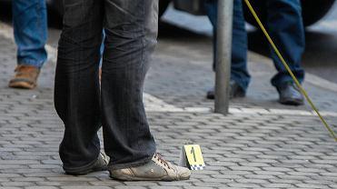 Policja na miejscu strzelaniny (zdjęcie ilustracyjne)
