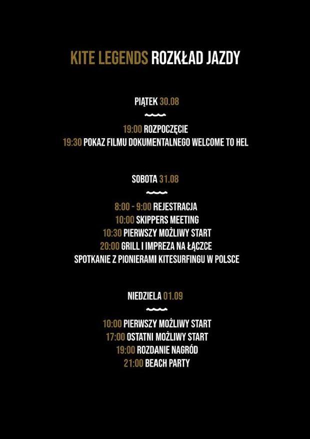 Kite Legends: harmonogram wydarzenia