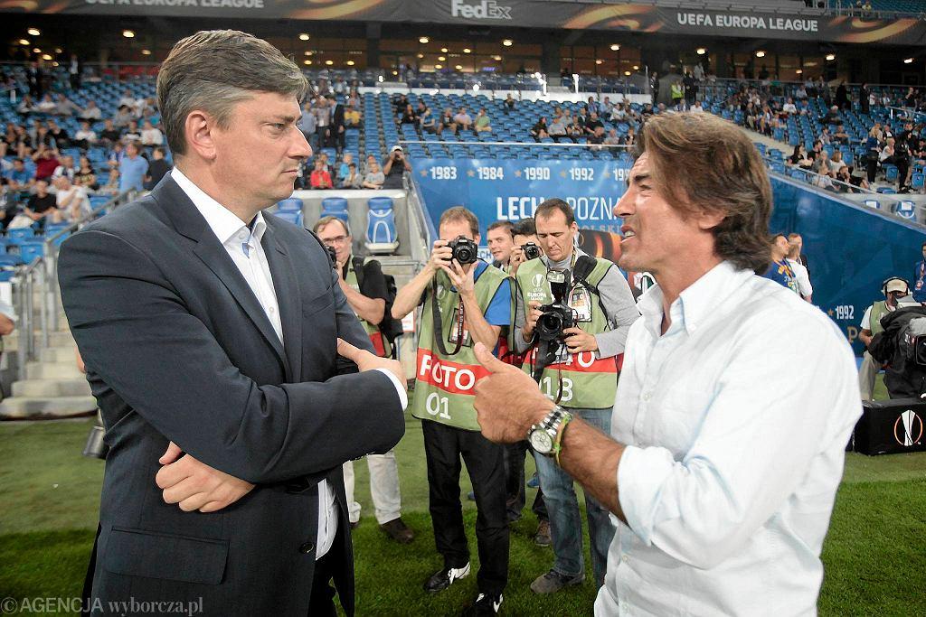 Lech Poznań - Belenenses 0:0. Trenerzy Maciej Skorża i Ricardo Sa Pinto