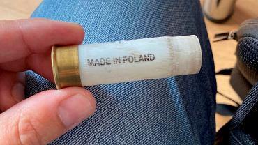 Łuski 'Made in Poland' z nabojów używanych przez OMON w Mińsku do tłumienia protestów.