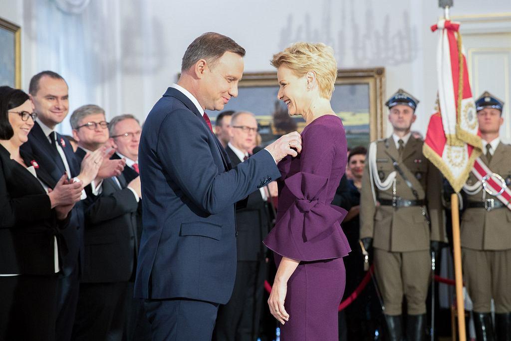 Uroczystość wręczenia odznaczeń państwowych w Belwederze